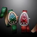 Стильные часы Bvlgari Serpenti со сменными ремешками из карунга