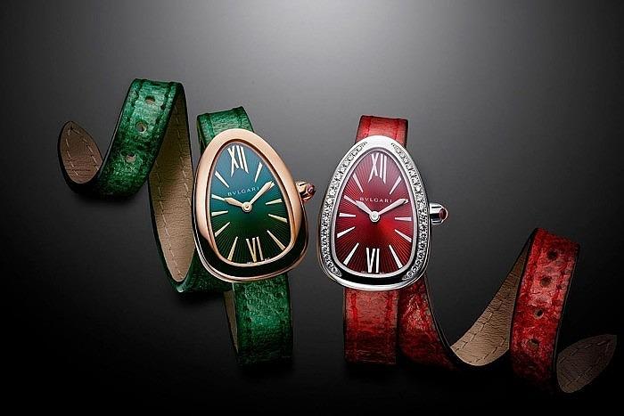 Часы Bulgari Serpenti с ремешками из карунга
