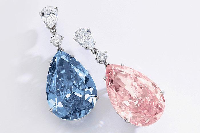 Бриллианты Apollo Blue весом 14,54 карата и Artemis Pink весом 16 карат