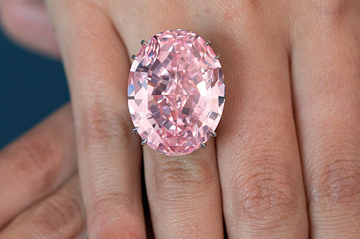 Бриллиант Pink Star в кольце