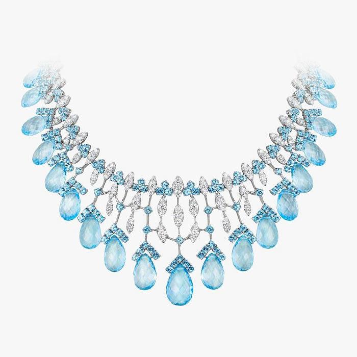 Колье с бриллиантами и топазами от Andreoli