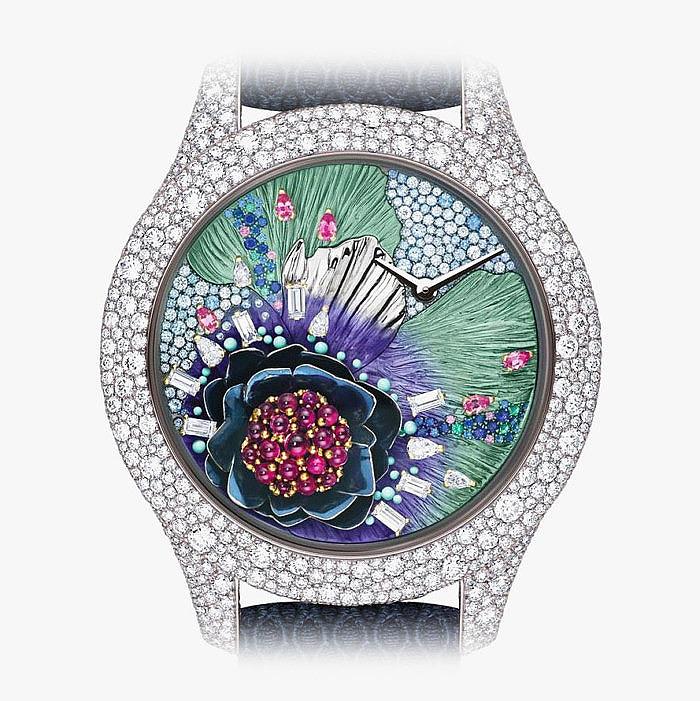 Ювелирные часы Dior с бриллиантами, сапфирами, изумрудами и рубинами