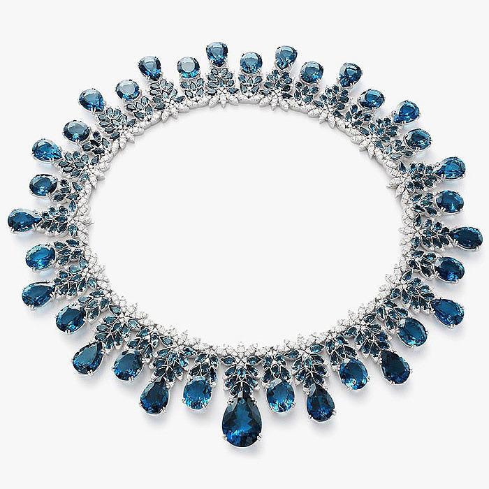 Колье Pasquale Bruni с синими топазами и бриллиантами