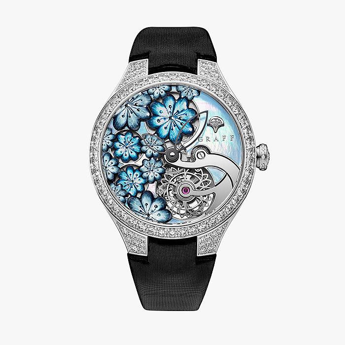 Яркие часы MasterGraff с эмалью и перламутром от Graff