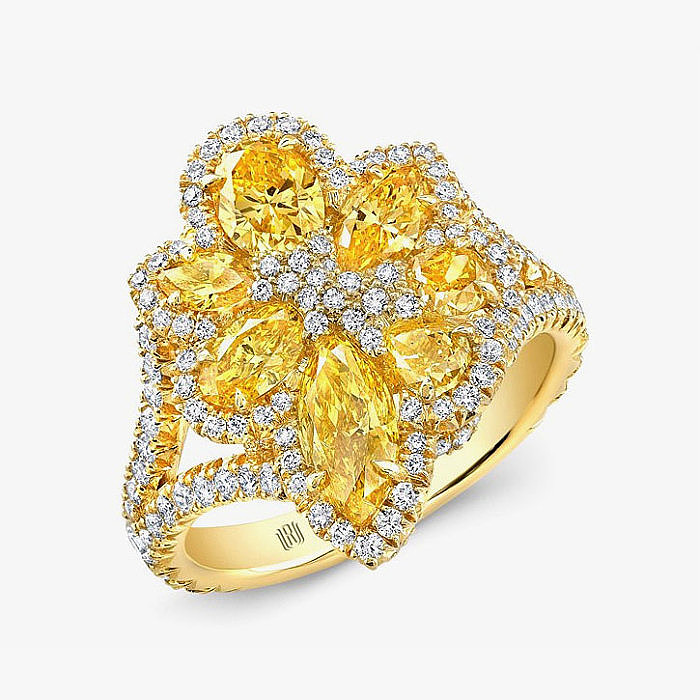 Кольцо с бриллиантами из золота от Rahaminov Diamonds