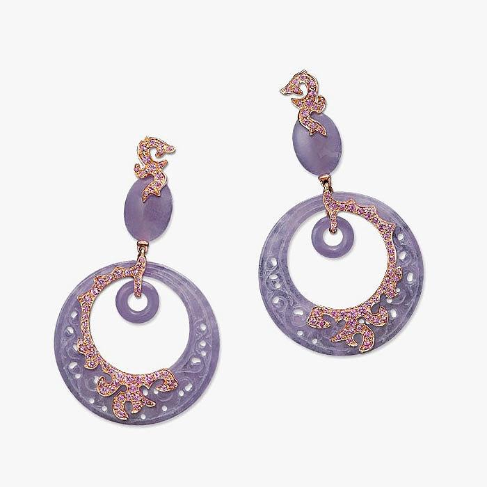 Серьги с жадеитом, сапфирами от Crhmub Cellini Jewelers