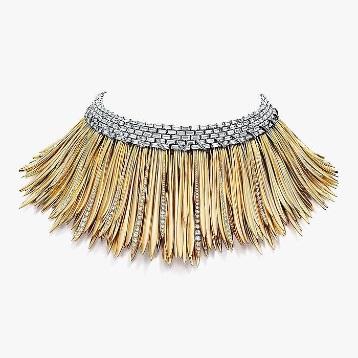 Колье из платины и желтого золота с бриллиантами от Tiffany & Co.