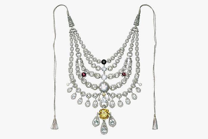 Бриллианты Cartier церемониального ожерелья махараджи Патиалы сэра Бхупиндер Сингх