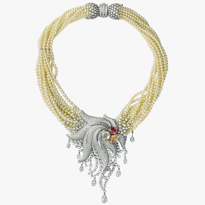 Колье Cartier с жемчугом и бриллиантами
