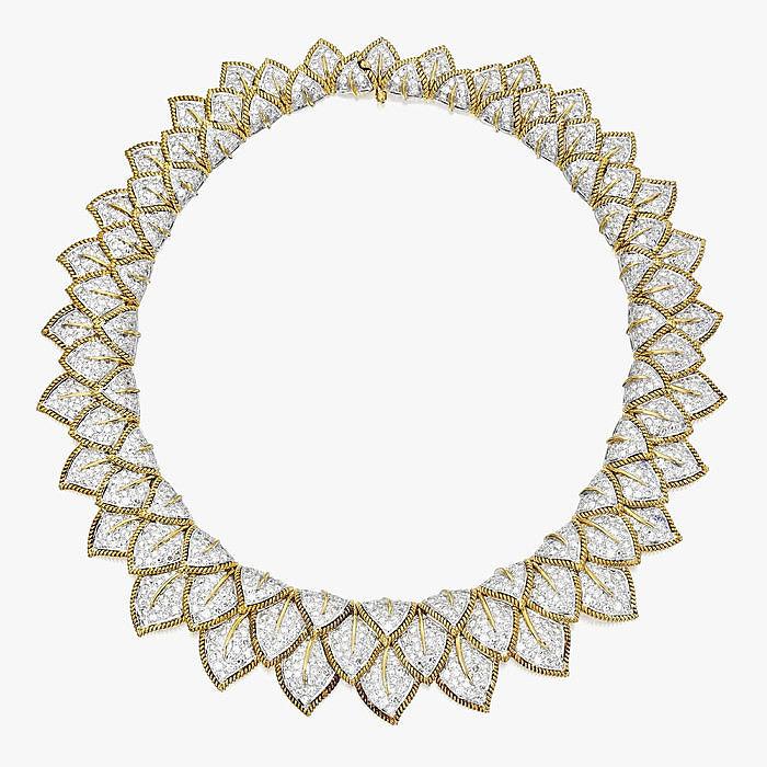 Колье из 18-каратного золота двух цветов с бриллиантами