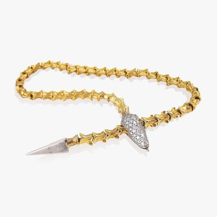 Колье из золота с бриллиантами от K. Brunini