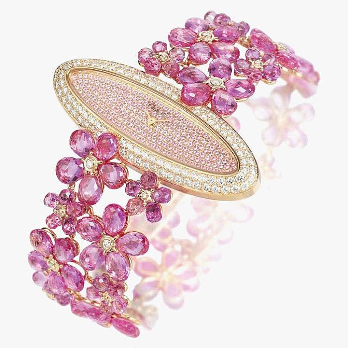 Сапфиры, турмалины и бриллианты в ювелирных часах от Chopard