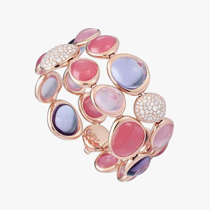 Браслет Belles Rives от Fred: родохрозиты, розовый кварц, бриллианты и аметисты