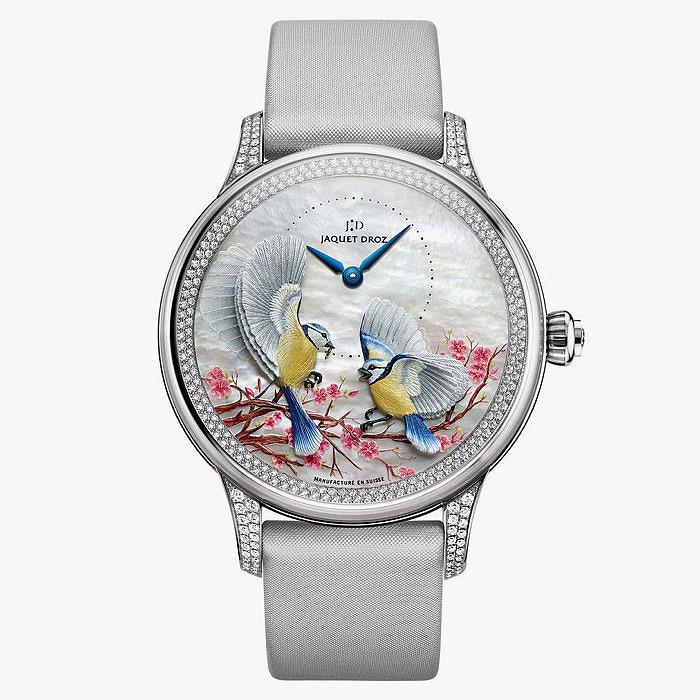 Ювелирные часы Jaquet Droz с перламутром и бриллиантами