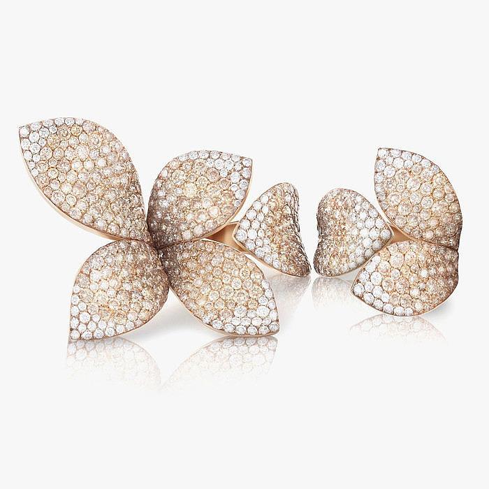 Усыпанные бриллиантами кольца Giardini Segreti от Pasquale Bruni