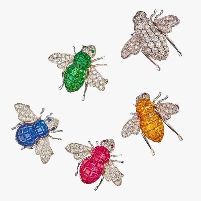 5 брошей-пчел от Sabbadini