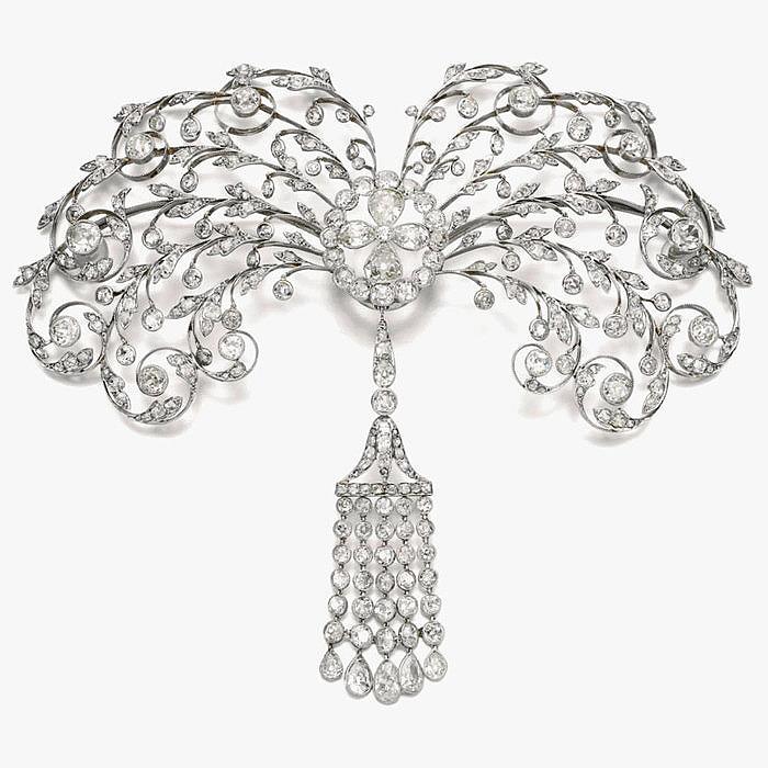 Бриллиантовая корсажная брошь от Chaumet