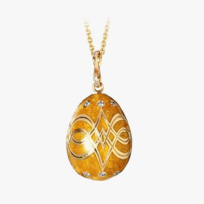 Подвеска Fabergé из желтого золота с бриллиантами и эмалью