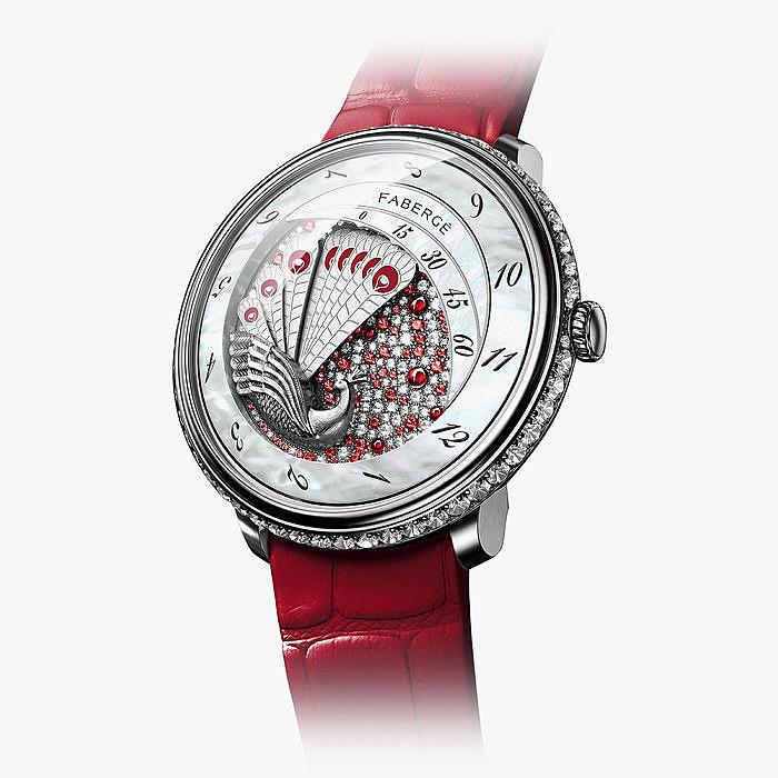 Часы Fabergé c бриллиантами и рубинами