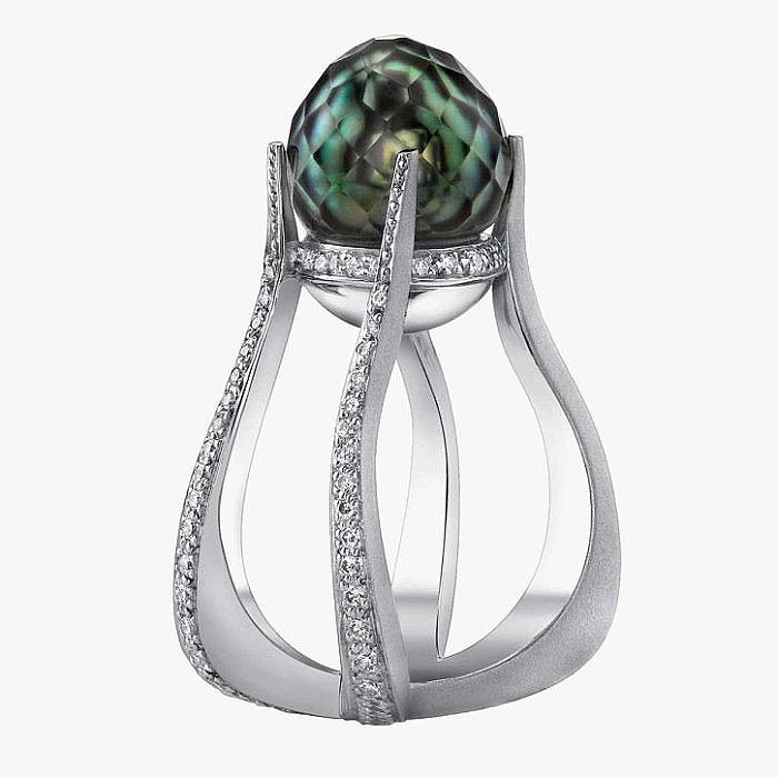 Кольцо Mark Schneider с ограненной жемчужиной и бриллиантами
