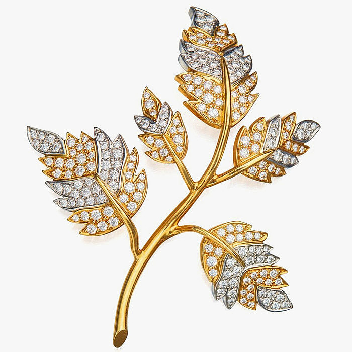 Брошь-веточка от Жана Шлюмберже для Tiffany & Co