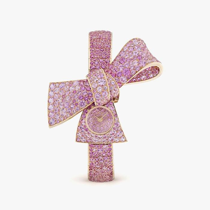 Ювелирные часы Van Cleef & Arpels из золота с бриллиантами и сапфирами