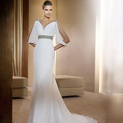 Фото платья в греческом стиле с рукавами