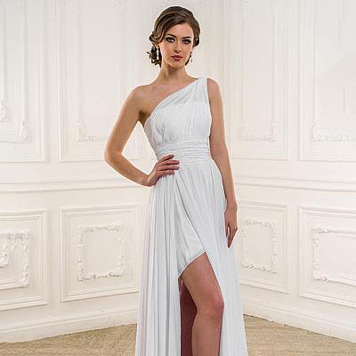 Фото платья в греческом стиле на одно плечо