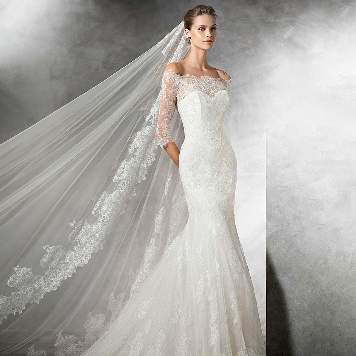5d6175fb6a7 Свадебное платье Рыбка с руками и длинной фото