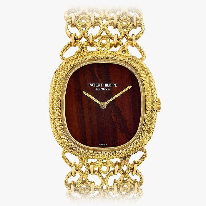 Женские часы от Patek Philippe в золоте с яшмой