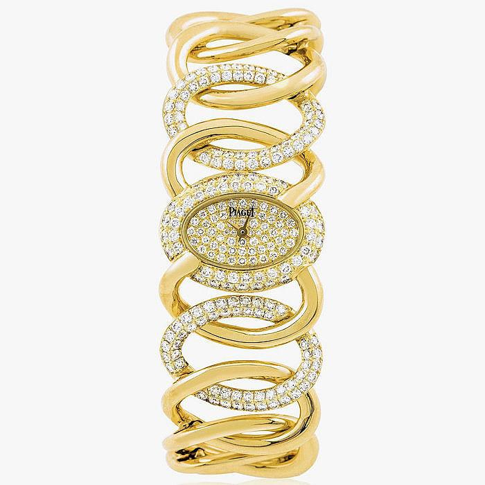 Женские часы с бриллиантами от Piaget.
