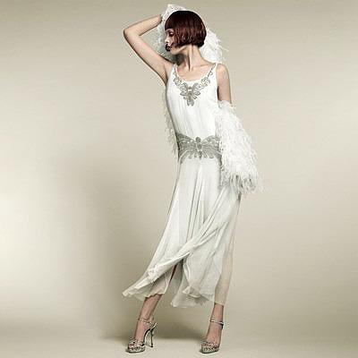 Свадебное платье в стиле 20-х годов
