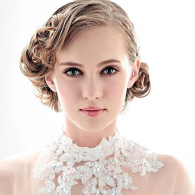 Свадебная прическа на короткие волосы укладка