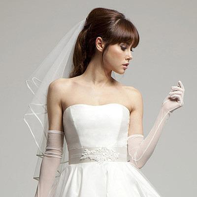 Свадебная короткая фата