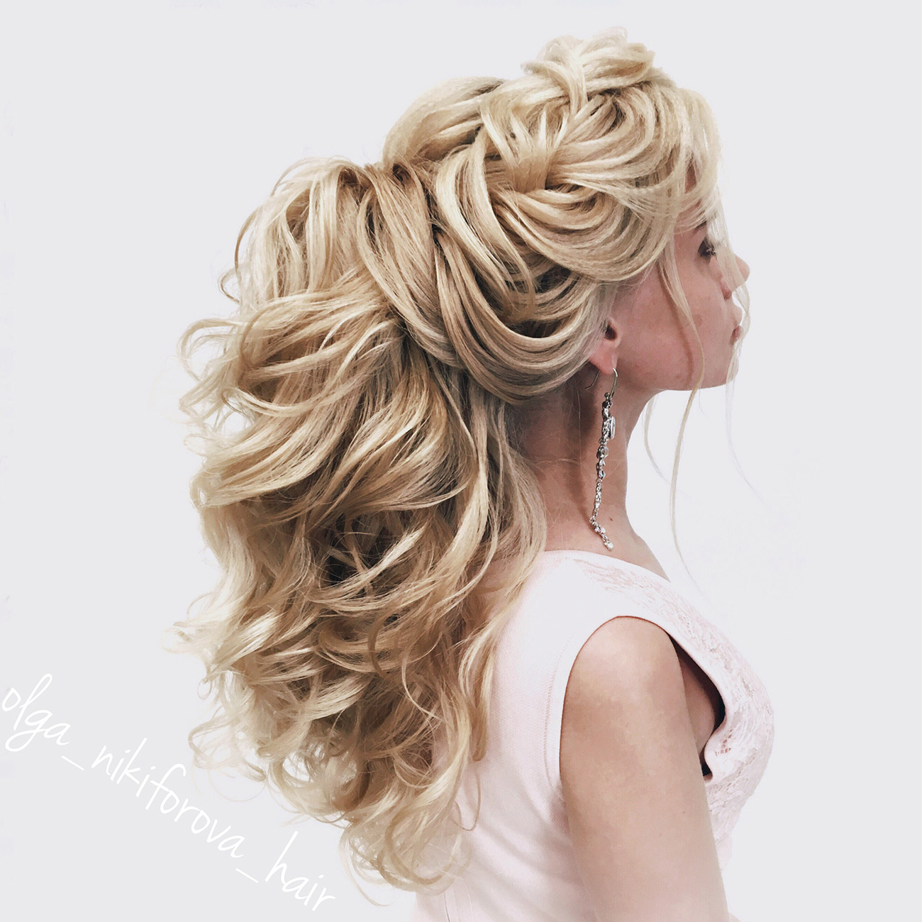 Сделать свадебные прически на длинных волос