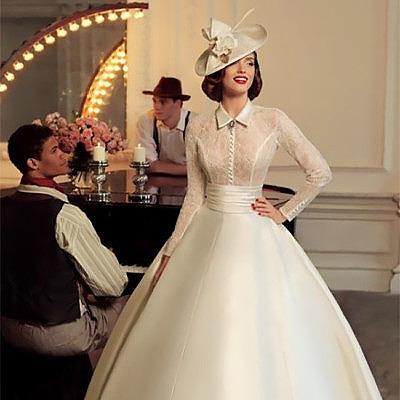 Свадебное платье в стиле 40-х годов
