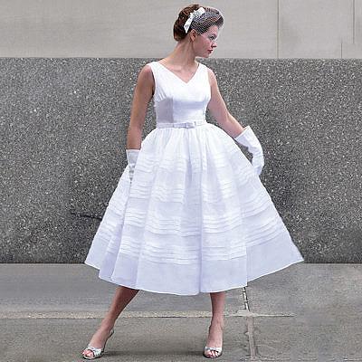 Свадебное платье в стиле 60-х годов, стиляги