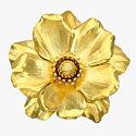 Золотая брошь-цветок от Cartier