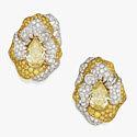 Золотые клипсы с цветными и бесцветными бриллиантами от Repossi