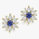 Пара клипс с сапфирами и бриллиантами от Tiffany & Co.
