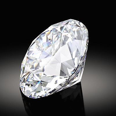 Бесцветный круглый бриллиант весом 102,34 карата
