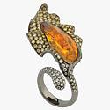 Опал и бриллианты в кольце от Forever Jewels