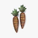 Серьги-морковки Hemmerle из меди и белого золота с оранжевыми сапфирами