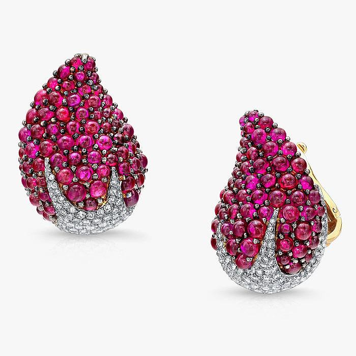 Серьги с рубинами и бриллиантами от Martin Katz
