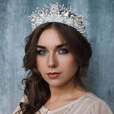 Свадебный ободок-тиара Ксении Шуталевой