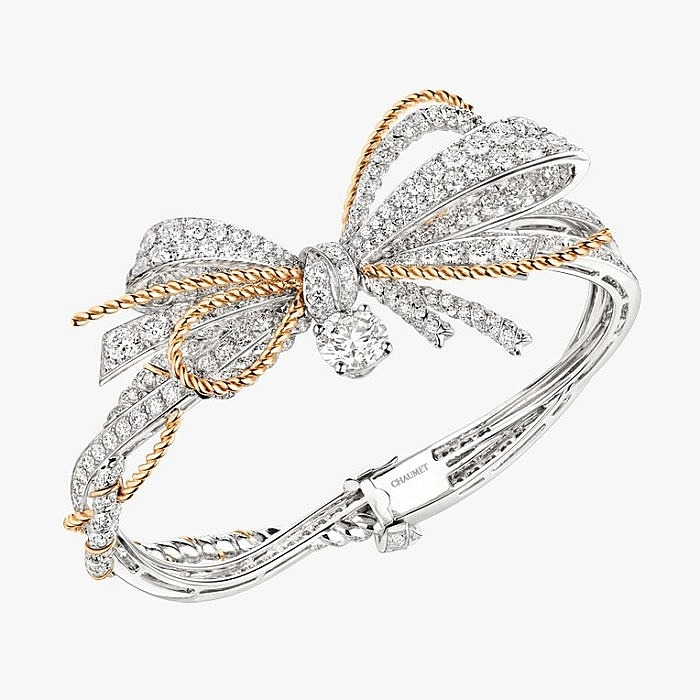 Браслет Insolence от Chaumet: белое и розовое золото, бриллианты