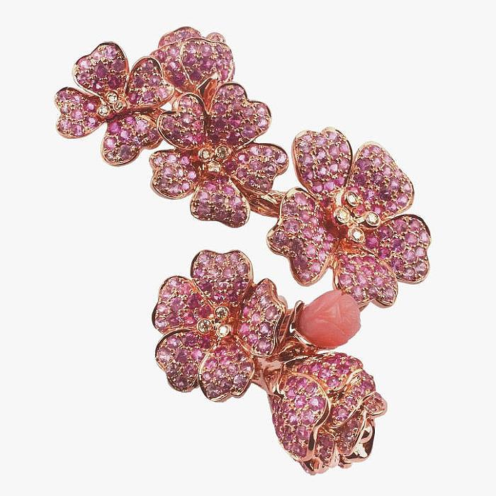 Кольцо с бриллиантами, сапфирами и опалами от Morphée