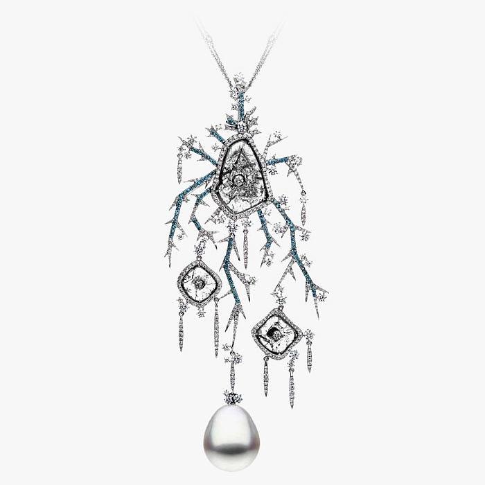 Колье Empress of Winter от Autore с жемчугом и бриллиантами
