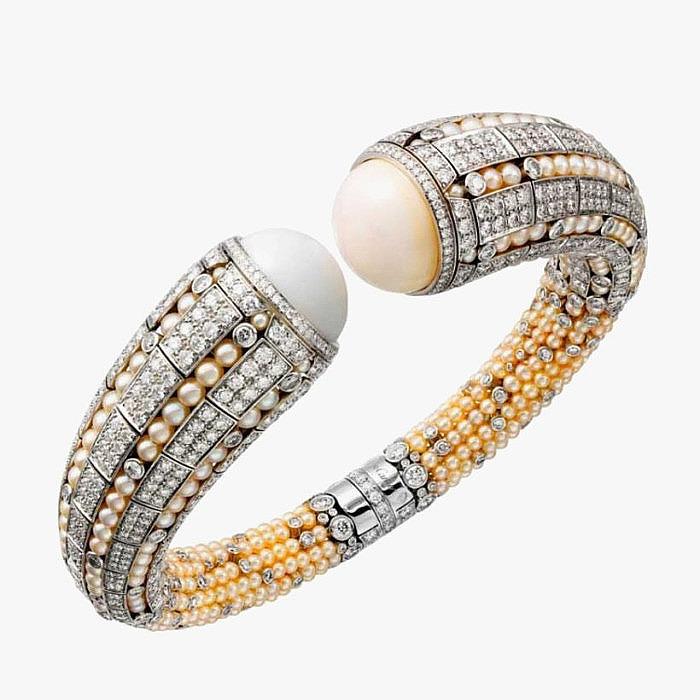 Браслет Cartier с жемчугом и бриллиантами