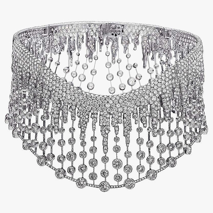 Платиновое колье с бриллиантами от Fred Leighton